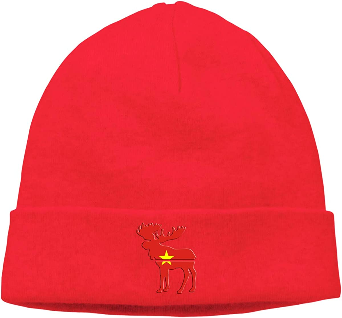 BBlooobow Men Women American Flag and Vietnam Flag Soft Beanie Hat