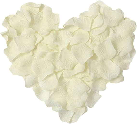 White rose silk petals for weddings// Nikkah and party decorations x 100 petals