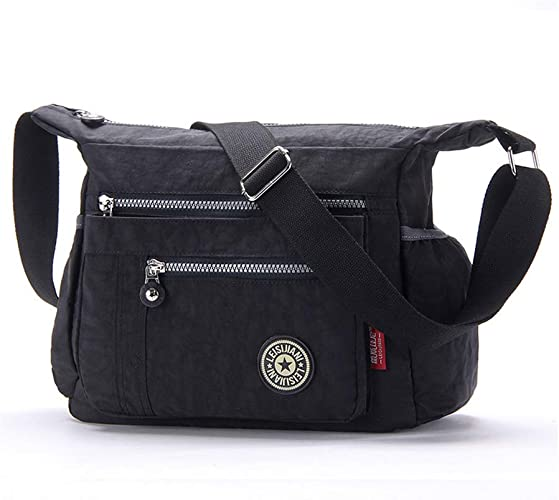 Fashion Women Large Handbag waterproof Nylon Shoulder Bag Crossbody Multi Pocket