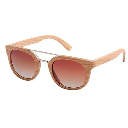 34a5748fd7c5 Travel Protable Personality Handmade Women's Wood Frame Sunglasses Metal  Nose Bridge Cat Eyes Polarized TAC Lens