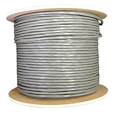 1000Ft Shielded Security/Alarm Wire, Gray, 18/6 (18AWG 6 Conductor), Stranded, CM / Inwall rated, Spool
