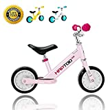 HAPTOO Balance Bike, Kid Bike 7 Inch [Ages 1.5 to 4 Years] Lightweight Aluminum Alloy No Pedal Walking Balance Training Bicycle for Kid Boys and Girl Pink