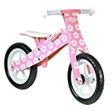 boppi Wooden Balance Bike - Pink Flower