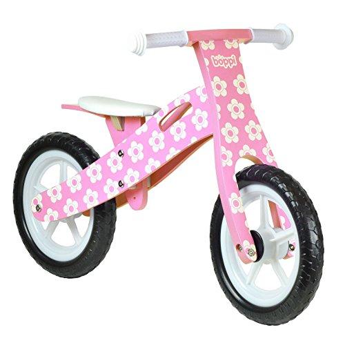 🥇 boppi® Bici sin Pedales de Madera para niños de 2-5 años – Rosa con Flores