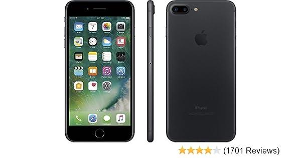 Apple iPhone 7 Plus, GSM Unlocked, 128GB - Black (Renewed)