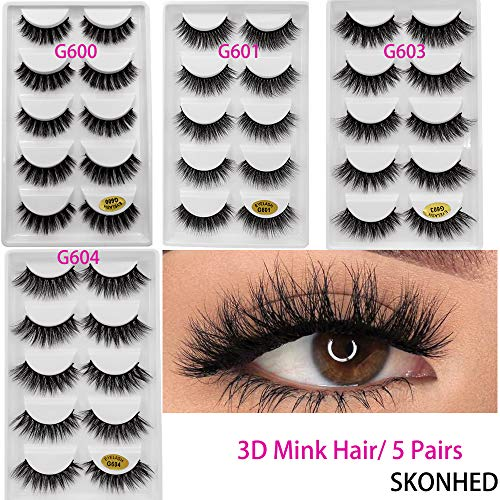 5 Pairs Mink Eyelashes Natural Long 3D Mink Lashes for sale  Delivered anywhere in USA