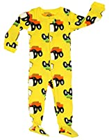 "Elowel Baby Boys footed ""monster truck"" pajama sleeper 100% cotton (size 6M-5Years)"