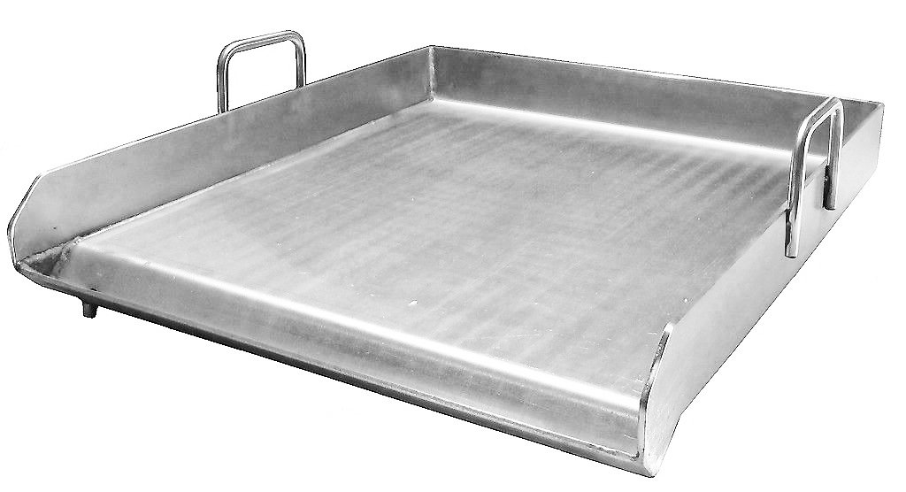 Bioexcel Stainless Steel Griddle Plancha for BBQ Grills, Taco Grill, Dishwasher Safe 15'', 32'' & 36'' - This one is 15''x18''