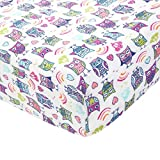 Aden by Aden + Anais Classic Crib Sheet, 100% Cotton Muslin, Super Soft, Breathable, Tailored Snug Fit, Wise Owl - Owl...
