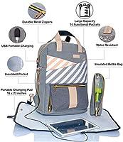 Backpack Diaper Bag – Large Multifunction Travel Back Pack for Mom Women – Baby  Toddler Girls Boys Twins – Lightweight Designer Nappy Bags for Tots Infant  ... 99833b30b335f