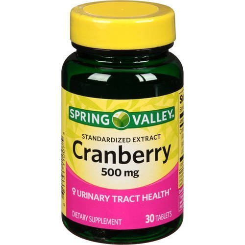 Spring Valley Standardized Extract Cranberry, 500 Mg, 30 Tablets by Spring - Standardized Extract Cranberry