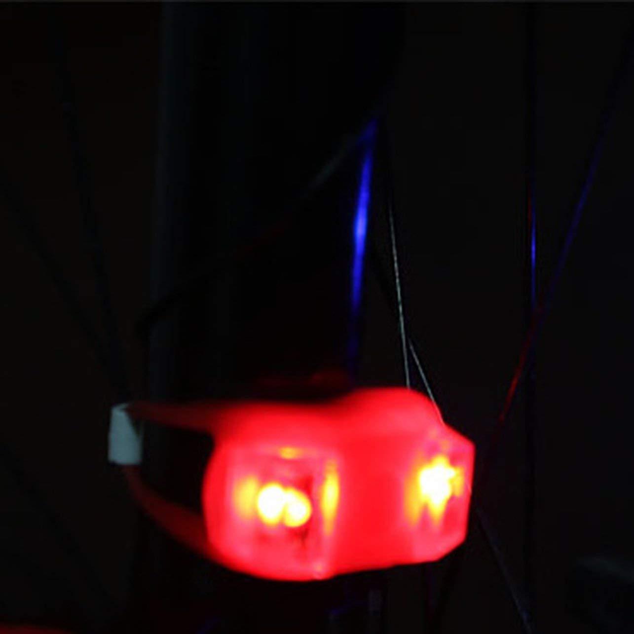 26mm 3 Mode 2 LED V/élo V/élo V/élo T/ête Avant Lumi/ère Arri/ère LED Lampe Flash comprennent Batterie Nouvelle Marque WOSOSYEYO 50mm 45mm