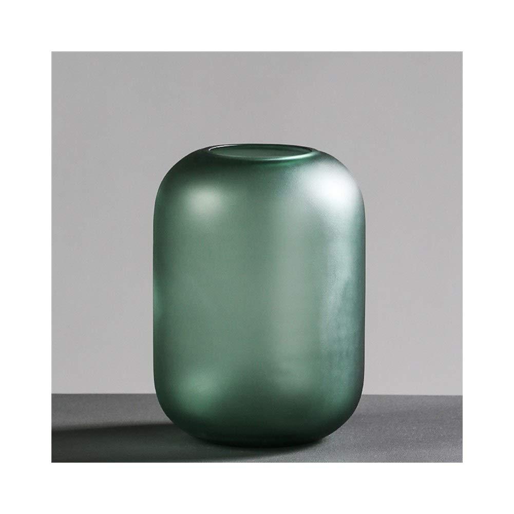 ガラス花瓶肥厚現代ミニマリスト花瓶リビングルームモデルルームテーブルデコレーション (Edition : B) B07T5QWWDV  B