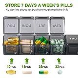 Extra Large Weekly Pill Organizer, Sukuos XL