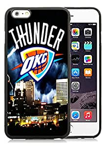 Unique And Durable Designed Case With okc thunder Black For iPhone 6 Plus 5.5 Inch TPU Phone Case