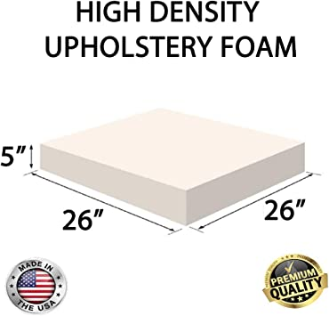 Custom Cut Tier 28 Upholstery Foam Cushion Any Density Seat Replacement , Upholstery Sheet , Foam Padding