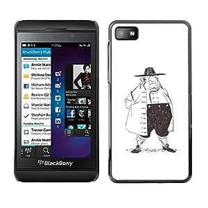 """For Blackberry Z10 Case , Historia de la Moda Hombre Dibujo al lápiz Gran Arte"""" - Diseño Patrón Teléfono Caso Cubierta Case Bumper Duro Protección Case Cover Funda"""