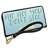 Wallet Clutch Hip Hop You Don't Stop Gingham Rabbit Pair with Removable Wristlet Strap Neonblond