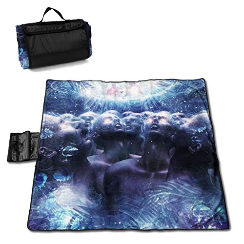 Large Waterproof Outdoor Picnic Blanket Sandproof Tote for Hiking Camping Grass Travelling 57 X 59 Inch Sacred Belief Eminent Monk -
