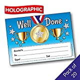 Holographic Well Done Certificate A5 x 20 - Primary Teaching Services