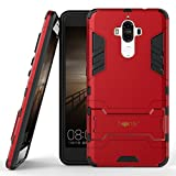 Heartly Huawei Mate 9 Back Cover Graphic Kickstand Hard Dual Rugged Armor Hybrid Bumper Case - Hot Red