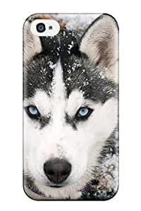 New Diy Design Siberian Husky Dog For Iphone 4/4s Cases Comfortable For Lovers And Friends For Christmas Gifts