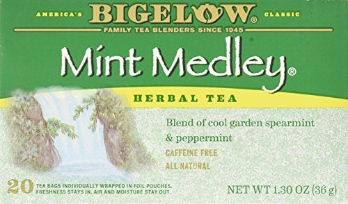 Bigelow Tea Mint Medley Herb Tea Spearmint and Peppermint -- 20 Tea Bags