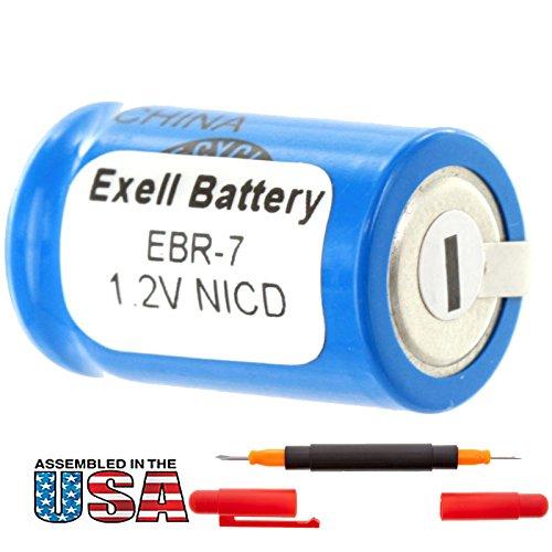 Exell 1.2V Razor Battery for Braun 2500 & Remington ULT-5 Razors Braun 2500,Braun Types: 5564, 5567, 5569, 5579 Braun Models: 3510, 3511, 3512, 3520, 3525,Remington 7BF21C Replaces Razor-7