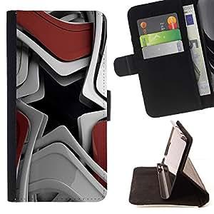 Momo Phone Case / Flip Funda de Cuero Case Cover - Resumen de la estrella - LG G2 D800