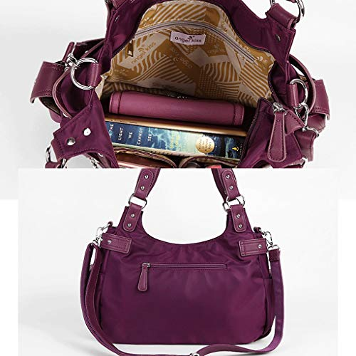 color Bolso Colores Metro Capacidad Nylon Impermeable Gran De Bolso Purple Donglu 5 Purple Tamaño z8q7dz