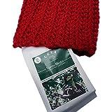 Bufanda Riot tipo cuello, color rojo tejido artesanal + Ehya café orgánico, Tueste medio molido regular