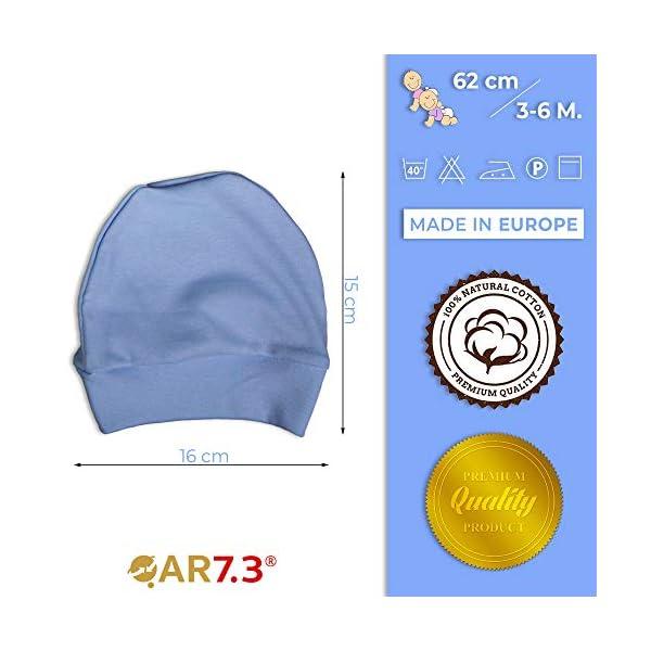 QAR7.3 Completo Vestiti Neonato 3-6 mesi - Set Regalo, Corredino da 5 pezzi: Body, Pigiama, Bavaglino e Cuffietta (Blu… 6