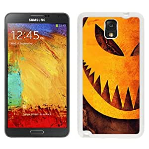 NEW Unique Custom Designed Samsung Galaxy Note 3 N900A N900V N900P N900T Phone Case With Halloween Pumpkin Sharp Teeth Illustration_White Phone Case wangjiang maoyi
