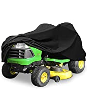 "North East Harbor Deluxe Riding Lawn Mower Tractor Cover Fits Decks up to 62"" - Black - 190T Polyester Taffeta PA Coated Water and UV Resistant Storage Cover - 82"" L x 50"" W x 47"" H"