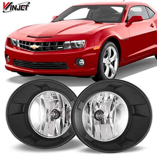 Winjet WJ30-0385-09 OEM Series for [2010-2013 Chevrolet Camaro] Driving Fog Lights + Switch + Wiring Kit Clear Lens