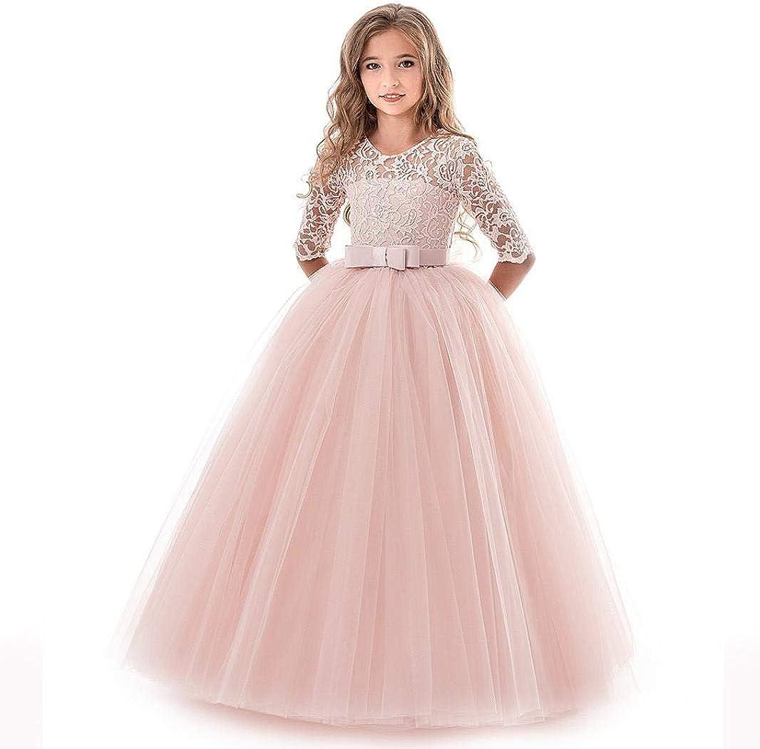 Teen Toddler Kids Baby Girls Dress Rainbow Stripes Print Dresses with Pocket Little Princess One-Piece Skirt 1-5 Years
