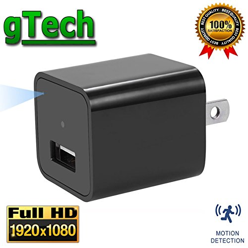 Hidden Camera USB Wall Charger 1080P - by GTECH | Latest 2017 Version | 32GB Internal Storage | Spy Cam Nanny Cam Motion Detection