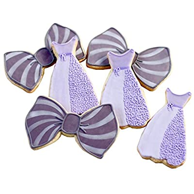 ½ Dz. Bow Ties and Dresses Cookies Bridal Shower or School Formals Wedding Favors