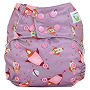 Sweet Pea Bamboo All in One, One Size Diaper, Rocket