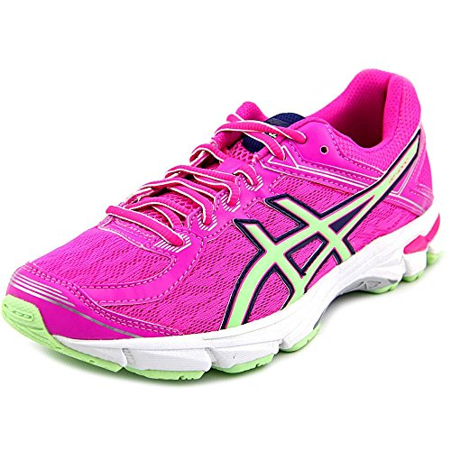 Price comparison product image ASICS GT 1000 4 GS Running Shoe (Little Kid/Big Kid), Pink Glow/Pistachio/Indigo Blue, 7 M US Big Kid