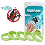 Mosquitavert All Natural Mosquito Repellent Bracelets - Six (6) Pack - Deet Free - Deters Bugs for Hours - Natural Oil Bug Repellent - Kid Safe Bracelet - Perfect For Travel