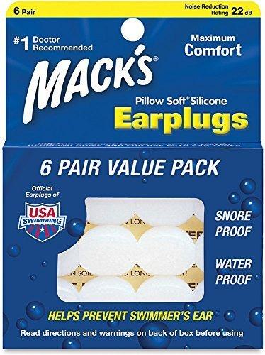 Mack's Pillow Soft Earplugs White 6 Pairs by Mack's