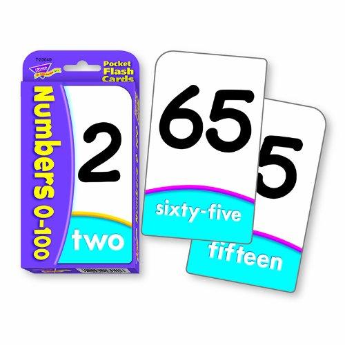 TREND ENTERPRISES INC. NUMBERS 0-100 POCKET FLASH CARDS (Set of - Flash 100 Pocket Cards