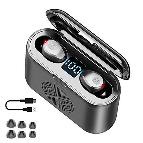 jinclonder 2019 Neueste F9 TWS Drahtlose Bluetooth-Ohrhörer 5.0, LED-Anzeige 9D Holographisches Schallfeld HiFi Stereo…