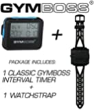 Bundle - 2 items: 1 Gymboss Interval Timer and Stopwatch + 1 Gymboss Watch Strap