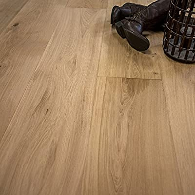 """Super Wide Plank 10 1/4"""" x 3/4"""" European French Oak Unfinished Engineered Wood Flooring Sample at Discount Prices by Hurst Hardwoods"""