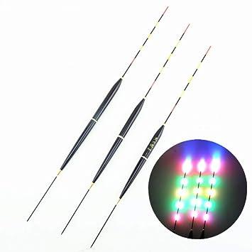 ZY Los flotadores de Pesca Brillan por la Noche, la Deriva Luminosa electrónica LED Enciende