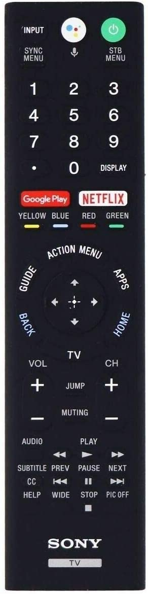 Replacement TV Remote Control Controller w//Voice Control for Sony XBR65Z9F 65-Inch XBR75Z9D XBR75Z9F 75-Inch 4K Ultra HD Smart BRAVIA LED TV