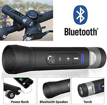 Takestop® Linterna multifunción para bicicleta bicicleta Speaker ...
