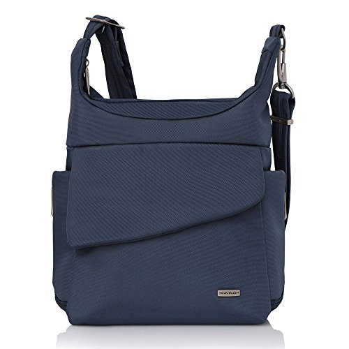 Travelon Anti-Theft Classic Messenger Bag (Blue - Exclusive Color)